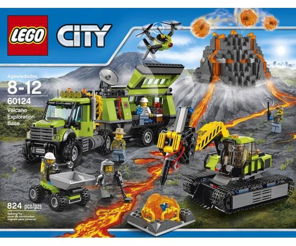 LEGO City Βάση Εξερεύνησης Ηφαιστείου (60124)
