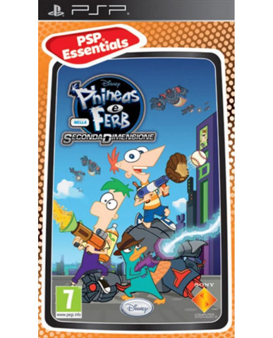 PHINEAS AND FERB ACROSS THE 2ND DIMENSION ESSENTIALS – PSP GAME