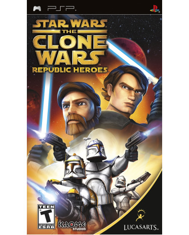 STAR WARS THE CLONE WARS REPUBLIC HEROES NO MANUAL – PSP GAME