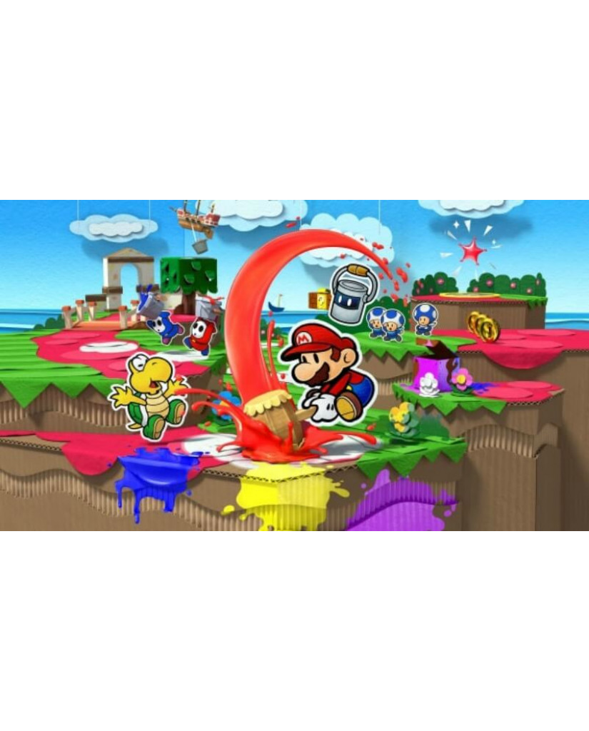 PAPER MARIO COLOR SPLASH - WII U GAME