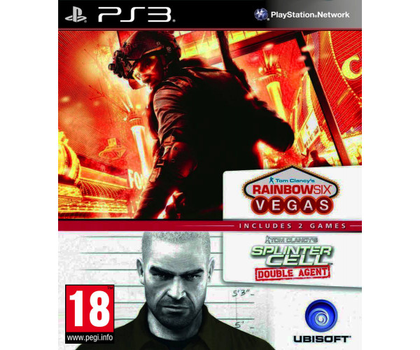 TOM CLANCY'S RAINBOW SIX VEGAS  + TOM CLANCY'S SPLINTER CELL DOUBLE AGENT - PS3 GAME