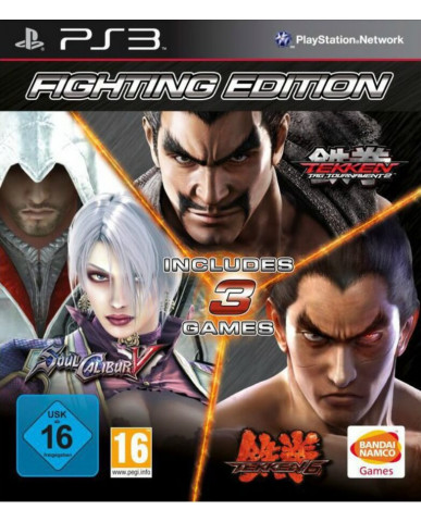 FIGHTING EDITION ΠΕΡΙΛΑΜΒΑΝΕΙ (TEKKEN 6 + SOULCALIBUR V + TEKKEN TAG TOURNAMENT 2) - PS3 GAME