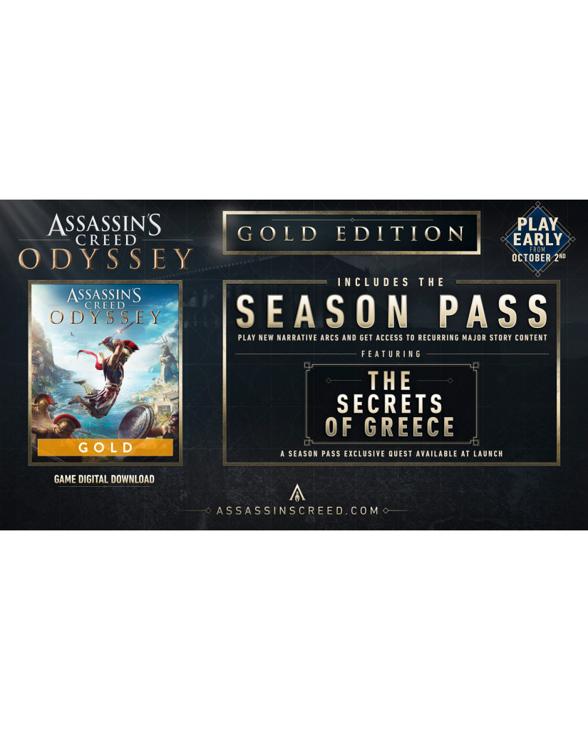 ASSASSIN'S CREED ODYSSEY GOLD EDITION – PS4 NEW GAME