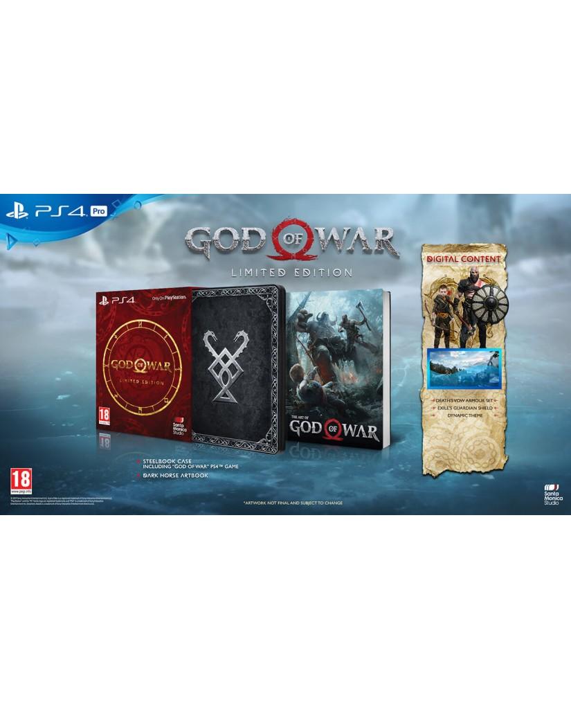 GOD OF WAR LIMITED EDITION ΕΛΛΗΝΙΚΟ + PRE ORDER BONUS - PS4 GAME