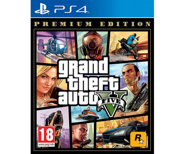 GRAND THEFT AUTO V (GTA V) PREMIUM EDITION - PS4 NEW GAME