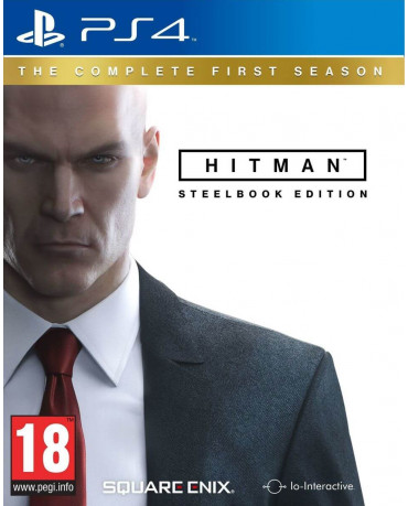 HITMAN: THE COMPLETE FIRST SEASON STEELBOOK EDITION + 6 BONUS CONTRACTS + THE SARAJEVO SIX - PS4 GAME