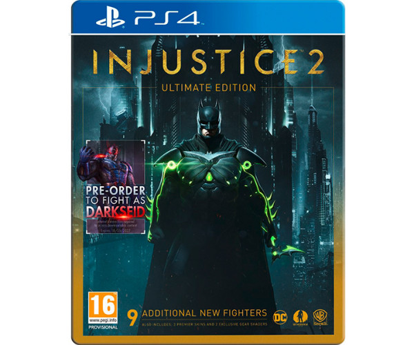 INJUSTICE 2 ULTIMATE EDITION INCLUDES PRE-ORDER TO FIGHT AS DARKSEID - PS4 GAME