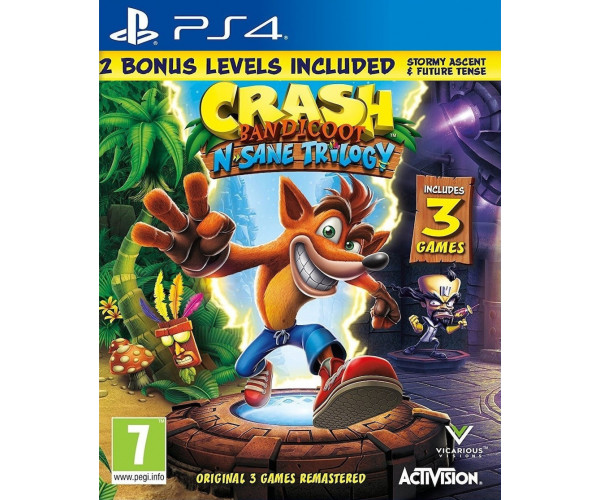 CRASH BANDICOOT N. SANE TRILOGY (BONUS EDITION) 2.0 - PS4 GAME