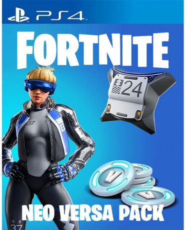 FORTNITE NEO VERSA BUNDLE VOUCHER CODE ΠΕΡΙΛΑΜΒΑΝΕΙ 2000 V-BUCKS, NEO VERSA OUTFIT, NEO BACK BLING - PS4