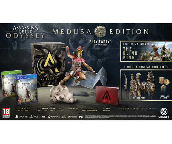 ASSASSIN'S CREED ODYSSEY MEDUSA COLLECTOR'S EDITION – XBOX ONE NEW GAME
