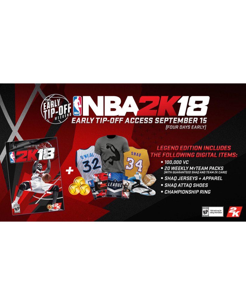 NBA 2K18 LEGEND EDITION - XBOX ONE GAME
